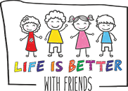 Life is better with friends Logo